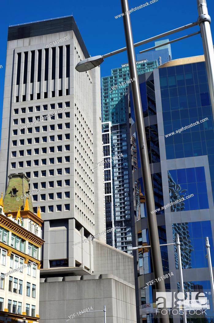 Stock Photo: buildings on Elizabeth Street, Sydney.