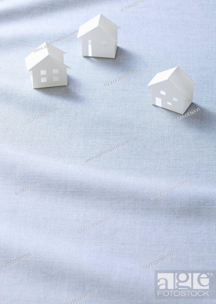 Stock Photo: Miniature houses Ecology image.
