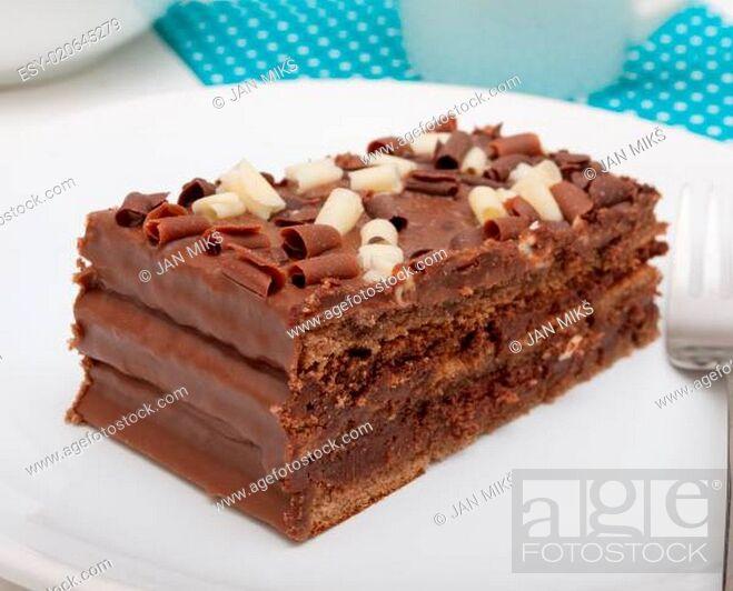 Stock Photo: Chocolate Cake.