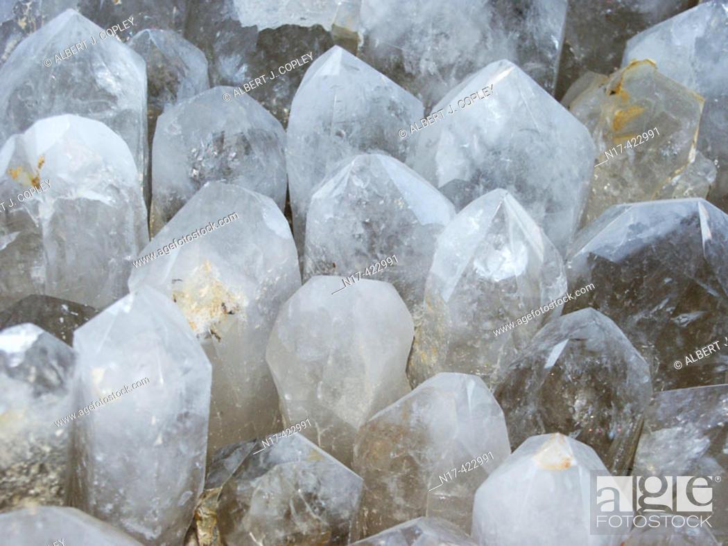 Stock Photo: Quartz crystals. Brazil.