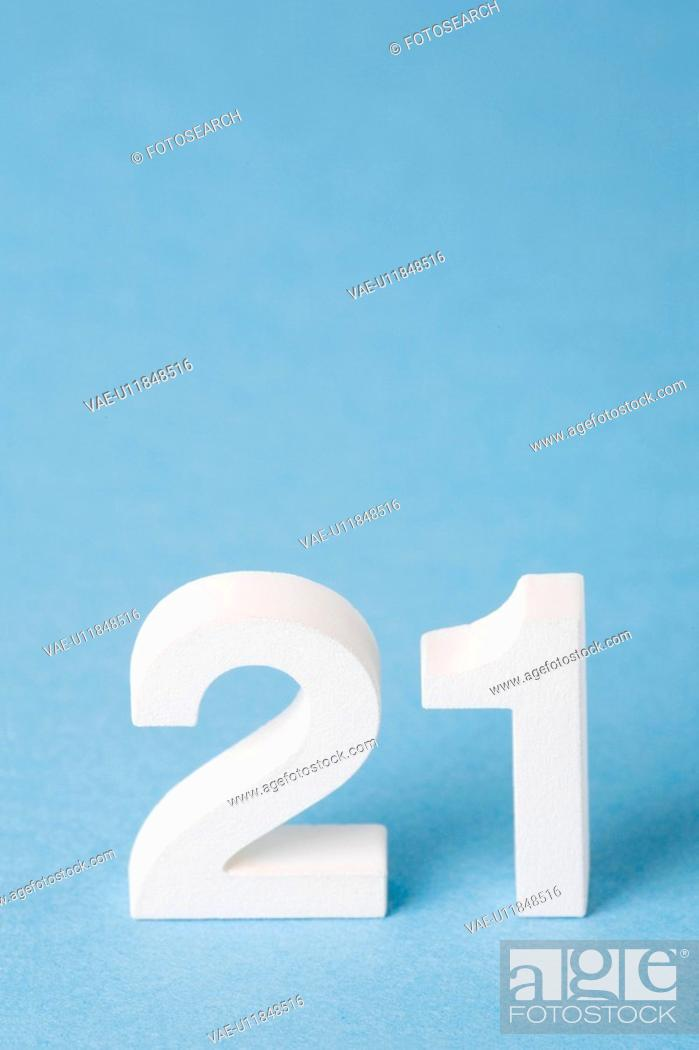 Stock Photo: Number 21.