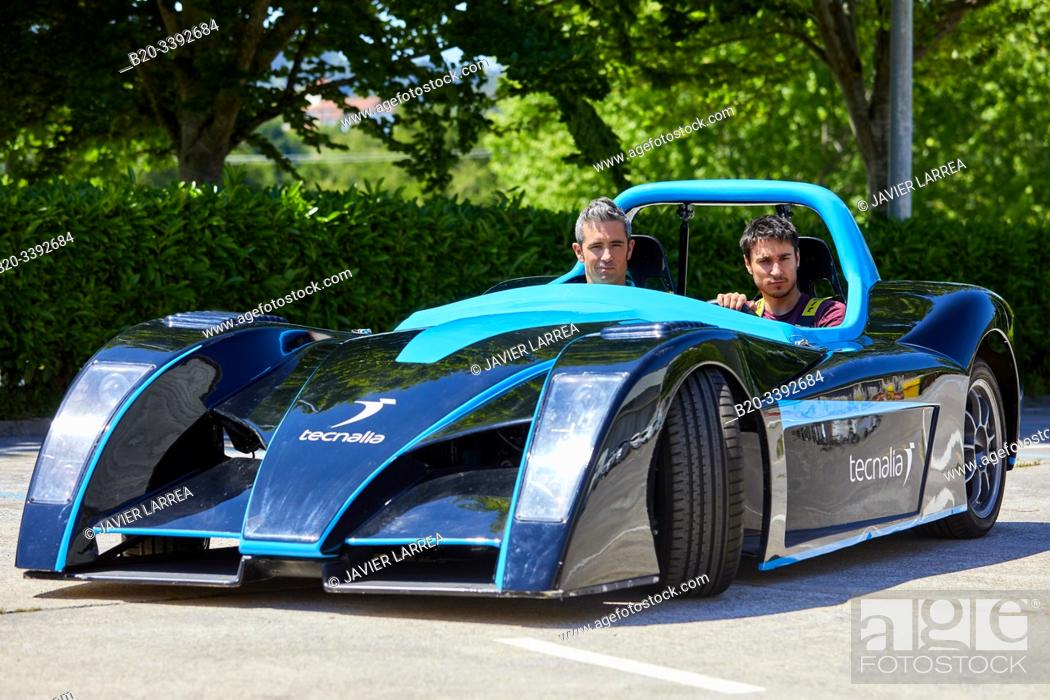 Stock Photo: Dynacar, electric vehicle, Researchers work in electric car, Industry Unit, Automotive Industry, Technology Centre, Tecnalia Research & Innovation, Derio.