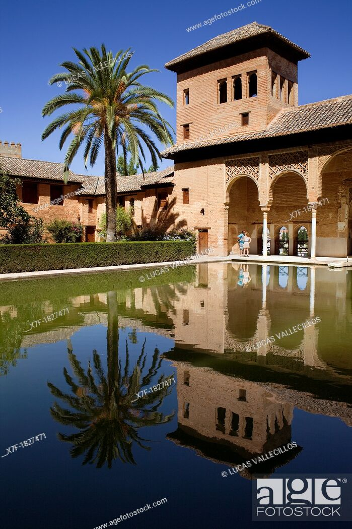Photo de stock: Partal, Torre de las Damas, Alhambra, Granada, Andalucia, Spain.