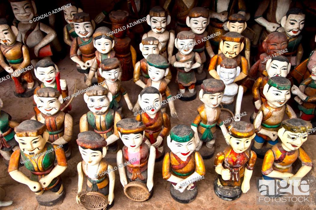 Stock Photo: Water Puppets  HANOI VIETNAM.