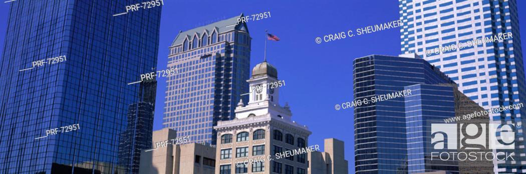 Stock Photo: Old City Hall Cityscape Tampa FL.
