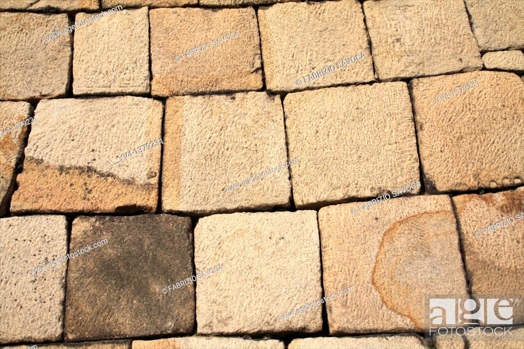 Stock Photo: Dry stone wall.