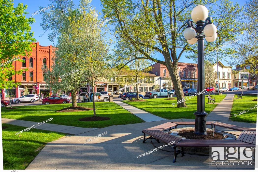 Stock Photo: Pulteney Park in the Village of Hammondsport in the Finger Lakes reion of New York State.