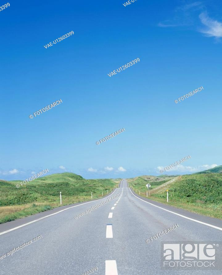 Stock Photo: A Road And Blue Sky.