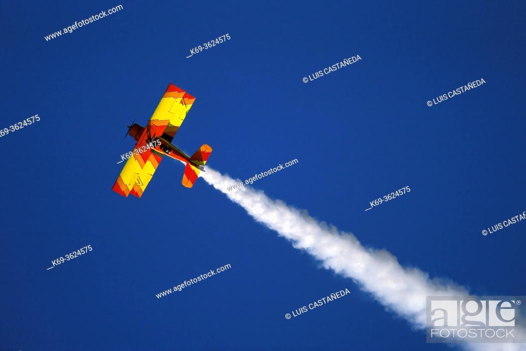 Stock Photo: Acrobatic Airplane during an Air Show. . Colorado USA. .