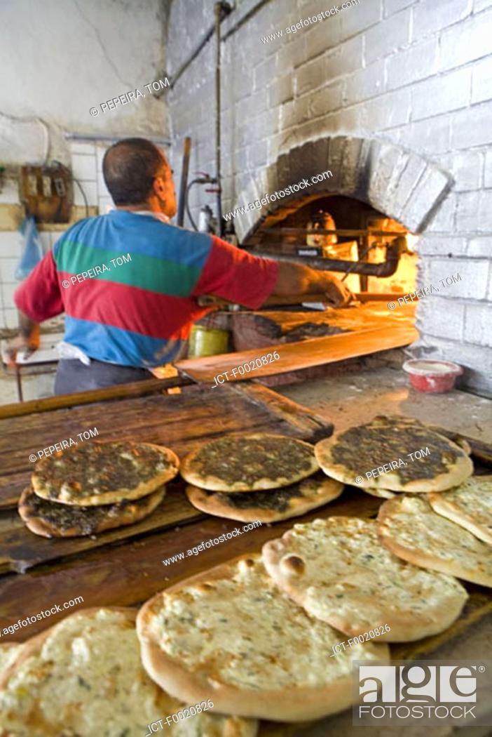 Stock Photo: Jordan, Amman, bakery.