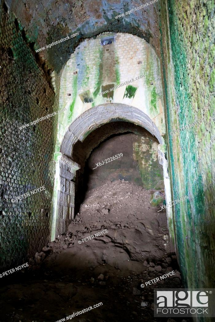 Stock Photo: Collapsed passageway under the seating tiers of the Roman amphitheatre in Saintes.
