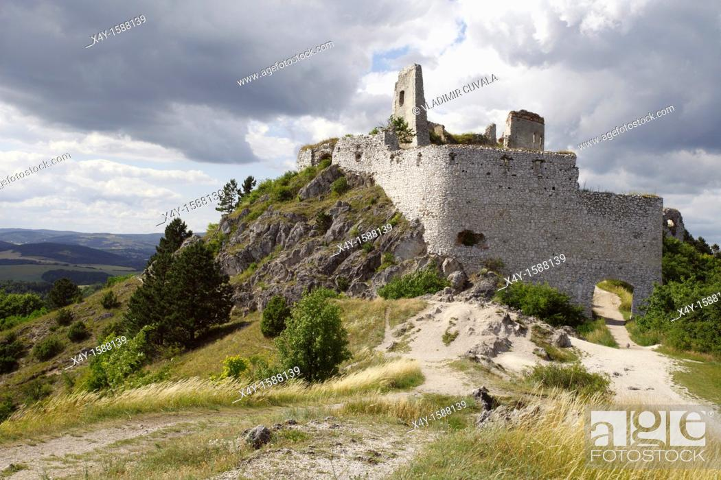 Stock Photo: The ruins of medieval castle Cachtice, Male Karpaty, Slovakia.