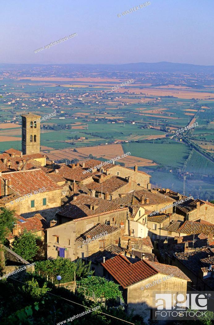 Stock Photo: Cortona. Val di Chiana, Tuscany, Italy.