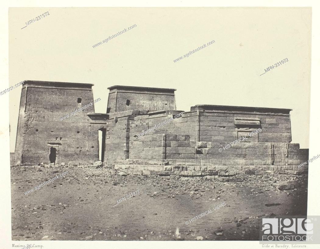 Imagen: Temple De Dakkeh (Ancienne Pselcis); Nubie - 1849/51, printed 1852 - Maxime Du Camp French, 1822–1894 - Artist: Maxime Du Camp, Origin: France, Date: 1849–1851.