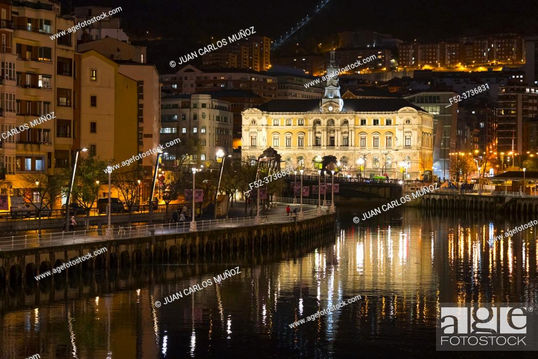 Stock Photo: Bilbao City Council. Province of Bizkaia in the autonomous community of the Basque Country, Spain, Europe.