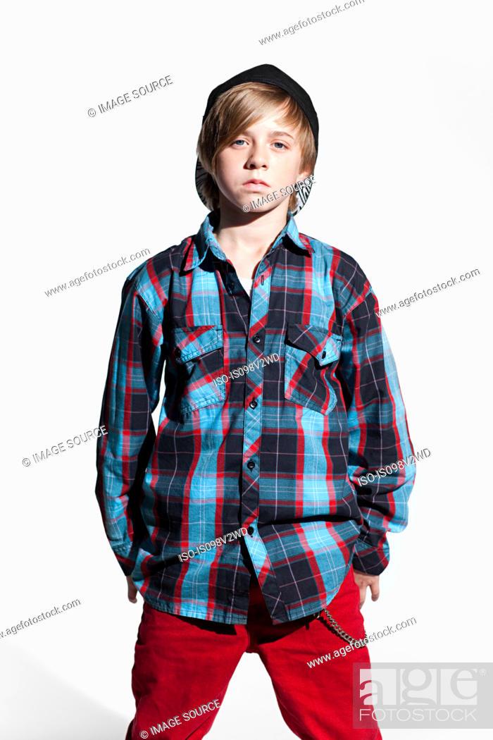 Stock Photo: Portrait of a teenage boy.