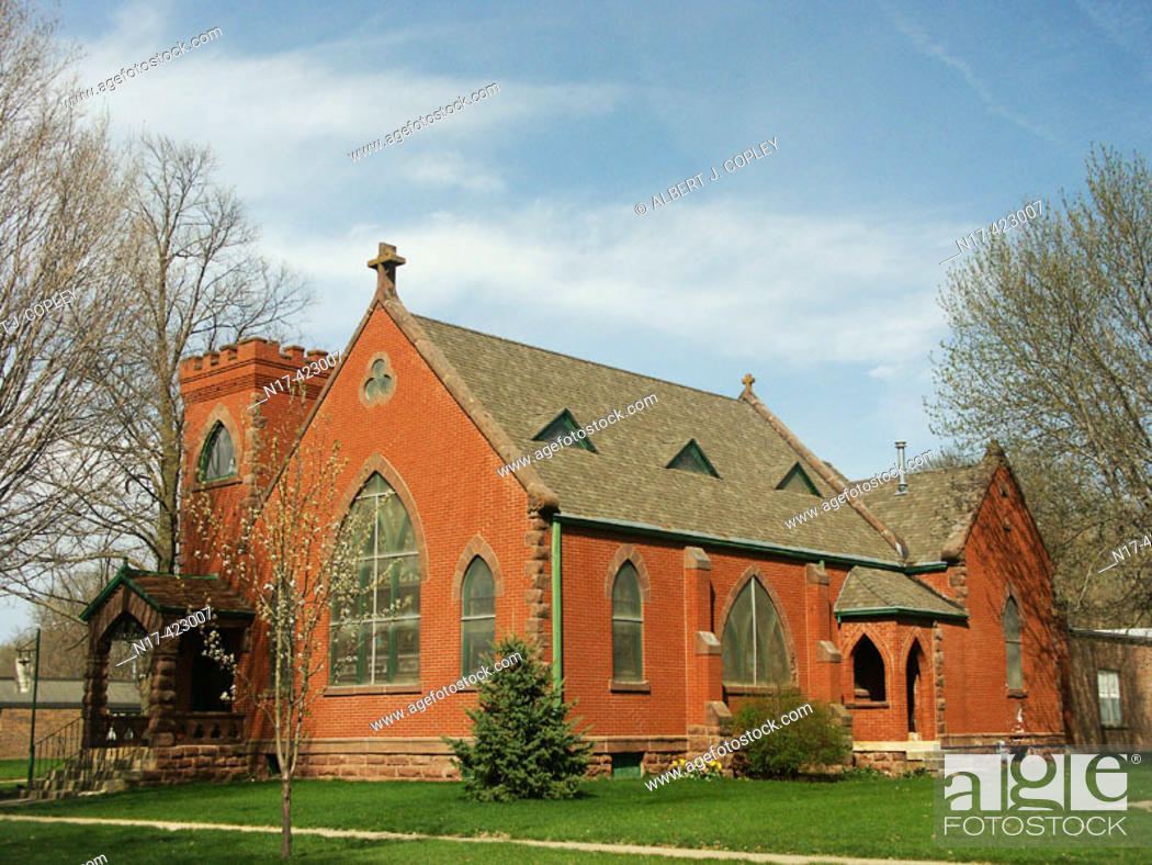 Stock Photo: Church, central United States.