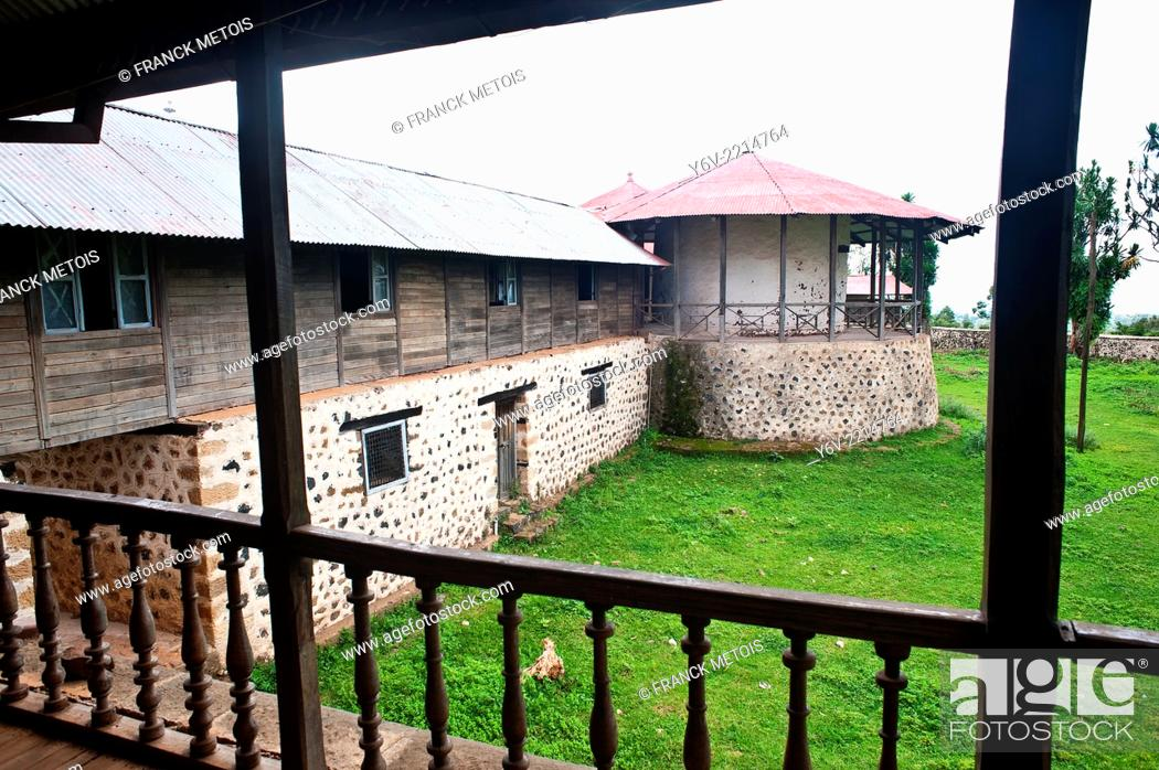 Stock Photo: Kumsa Moroda palace. Nekemte in Oromia state, Ethiopia. It was the residence of the former local kings from the end of the 19° to the middle of the 20° century.