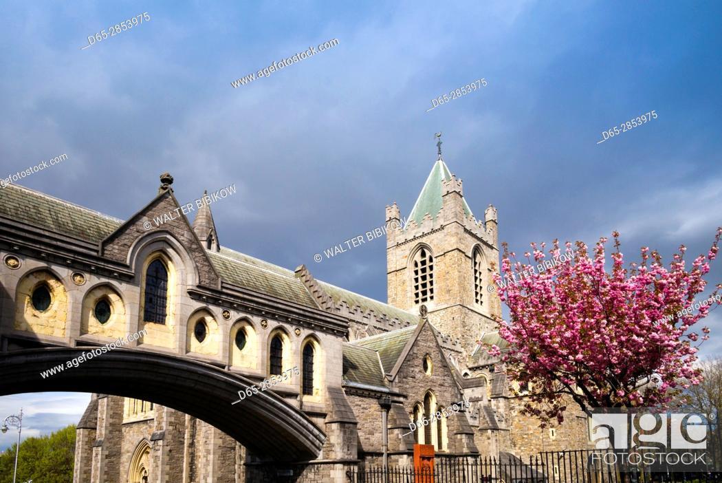 Stock Photo: Ireland, Dublin, Christ Church Cathedral, exterior.