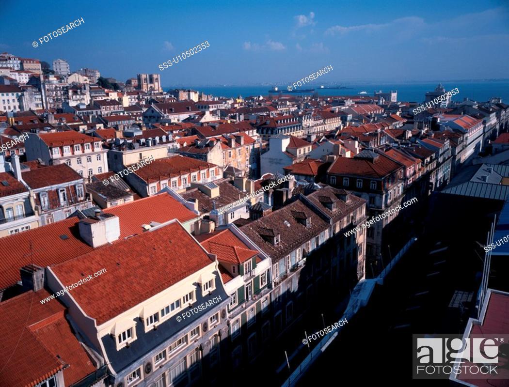 Stock Photo: Portuguese Town.