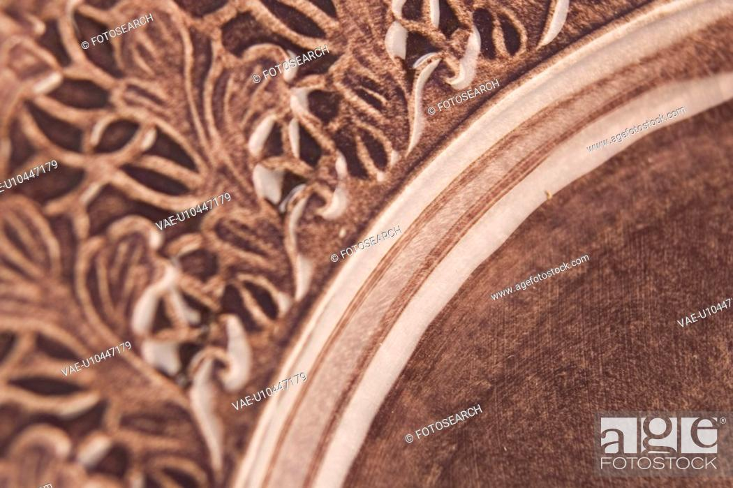 Stock Photo: Brown, Carving, Close-Up, Curve, Full Frame.
