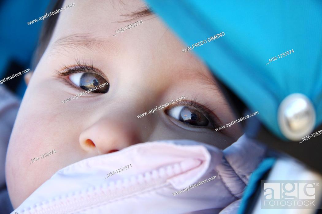 Stock Photo: Portrait of baby.