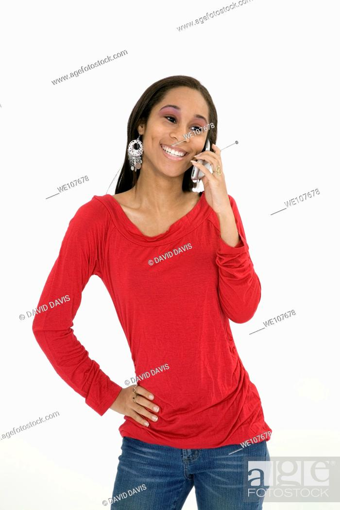 Stock Photo: Portrait of beautiful young African American teenager.
