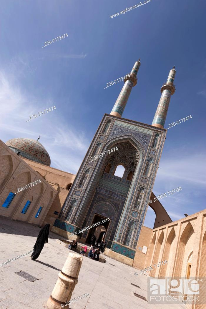 Stock Photo: Jameh Mosque, Yazd, Iran.