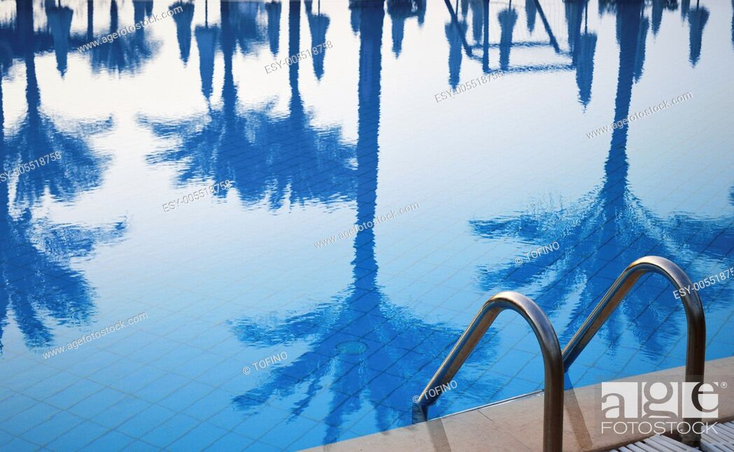 Stock Photo: Swimming pool in touristic resort during summer time.