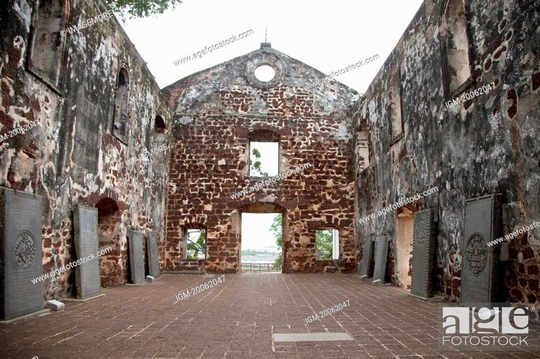 Stock Photo: Malaysia, Melaka State, Francis Xavier Church.