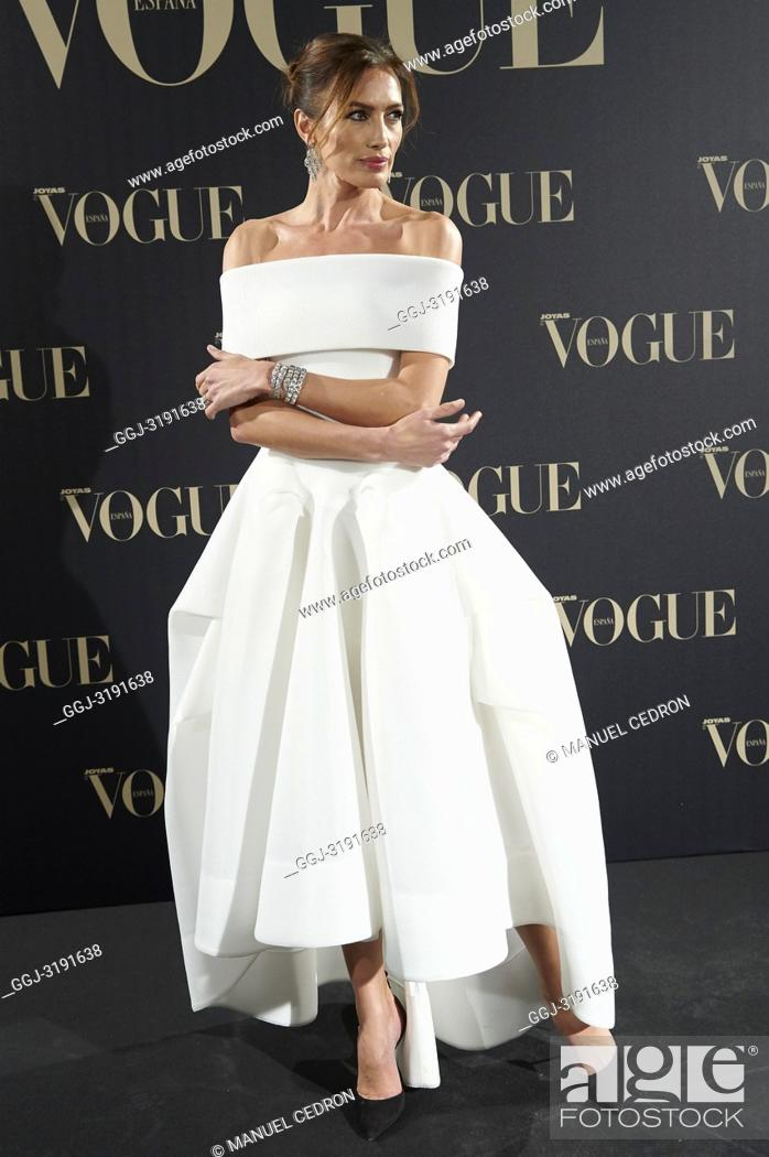 Stock Photo: Nieves Alvarez attends Vogue joyas awards photocall at Madrid at Palacio de Santoña on November 29, 2018 in Madrid, Spain.