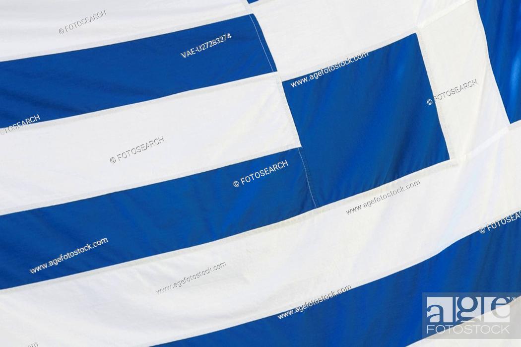 Stock Photo: Blue, Close-Up, Day, Flag, Full Frame.