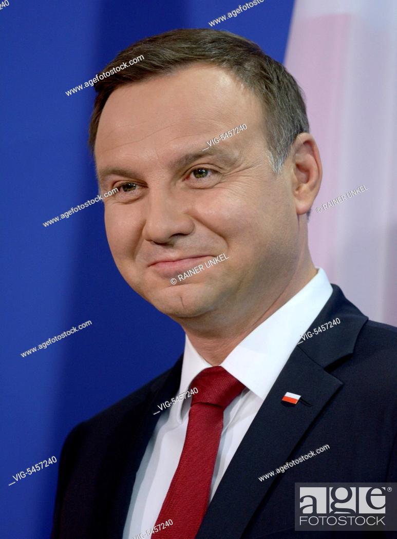 Stock Photo: Andrzej DUDA , President of Poland , 17.06.2016 - Berlin, Berlin, Germany, 17/06/2016.