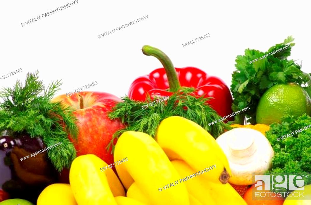 Stock Photo: vegetables and fruits.