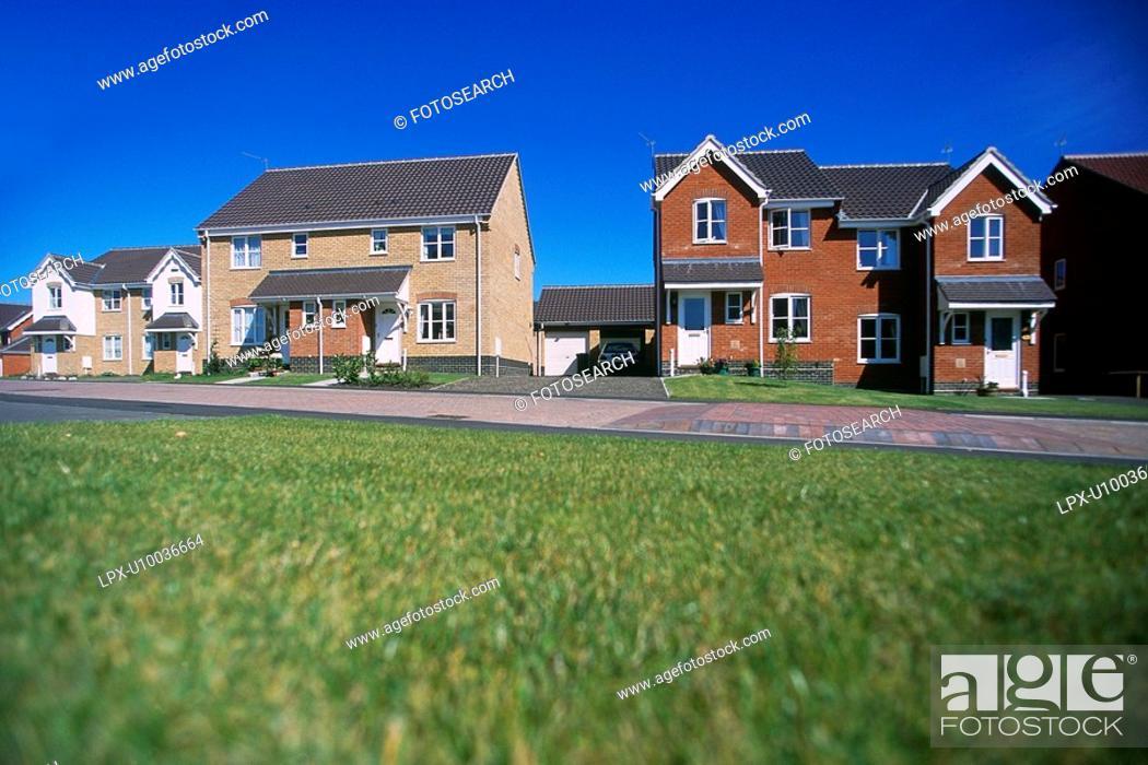 Stock Photo: Modern residential development.