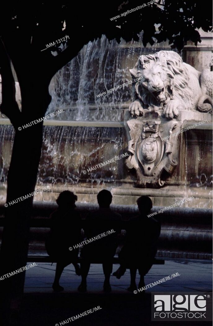 Stock Photo: Paris, a Detailed View St  Sulpice fountain 1844 by Visconti.