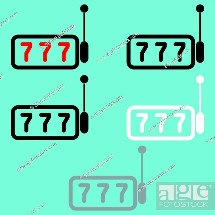 Stock Vector: One armed bandit it is icon set.
