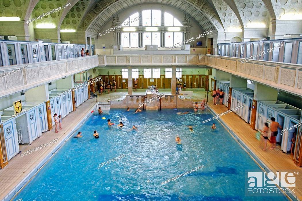 swimming pool municipal baths of the city of strasbourg strasbourg bas rhin 67 alsace