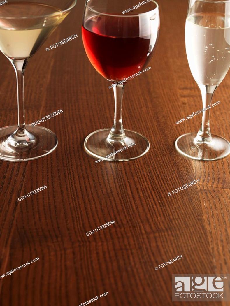 Stock Photo: Three Alcoholic Drinks.
