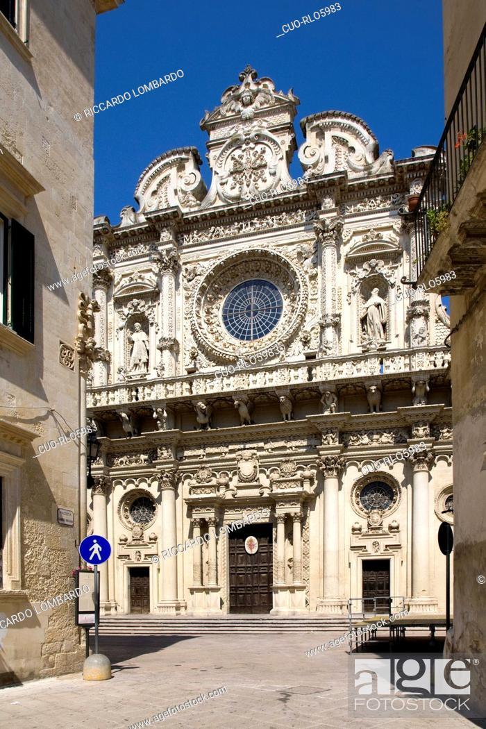 Stock Photo: Chiesa di Santa Croce church, lecce, Apulia, Italy, Europe.