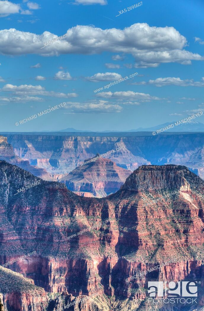 Imagen: View from Bright Angel Point, North Rim, Grand Canyon National Park, UNESCO World Heritage Site, Arizona, USA.