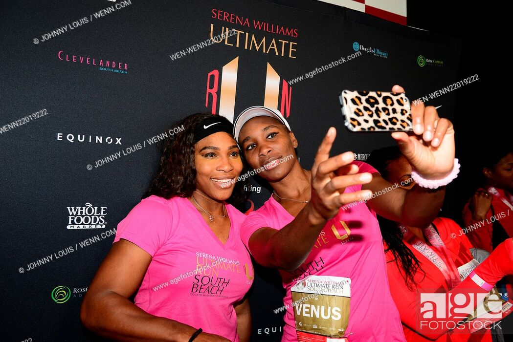 Stock Photo The Serena Williams Ultimate Run Karaoke After Party And Award Ceremony At Clevelander South Beach Featuring Venus