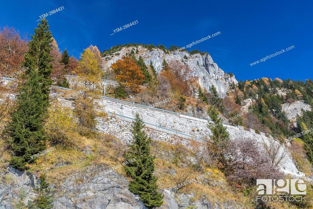 Stock Photo: Passo di Monte Croce Carnico in the Carnic Alps, Paluzza, Province of Udine, region Friuli-Venezia Giulia, Italy, Europe.
