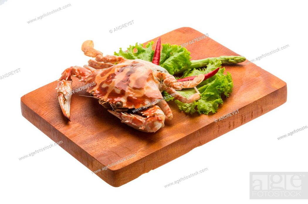 Stock Photo: Red crab isolated on white.