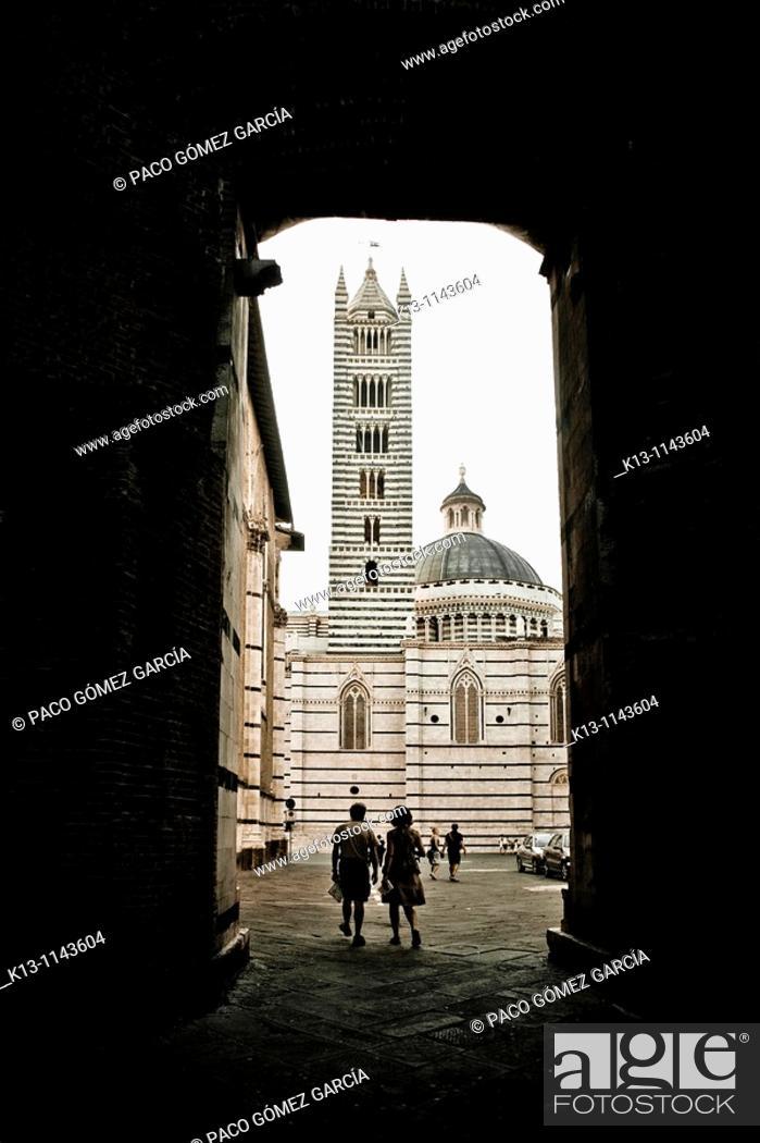 Stock Photo: Cathedral Siena  Tuscany  Italy.