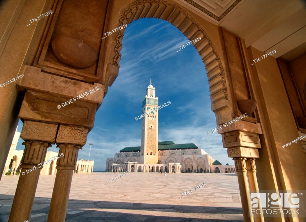Imagen: The amazing Hassan II Mosque in Casablanca, Morocco.
