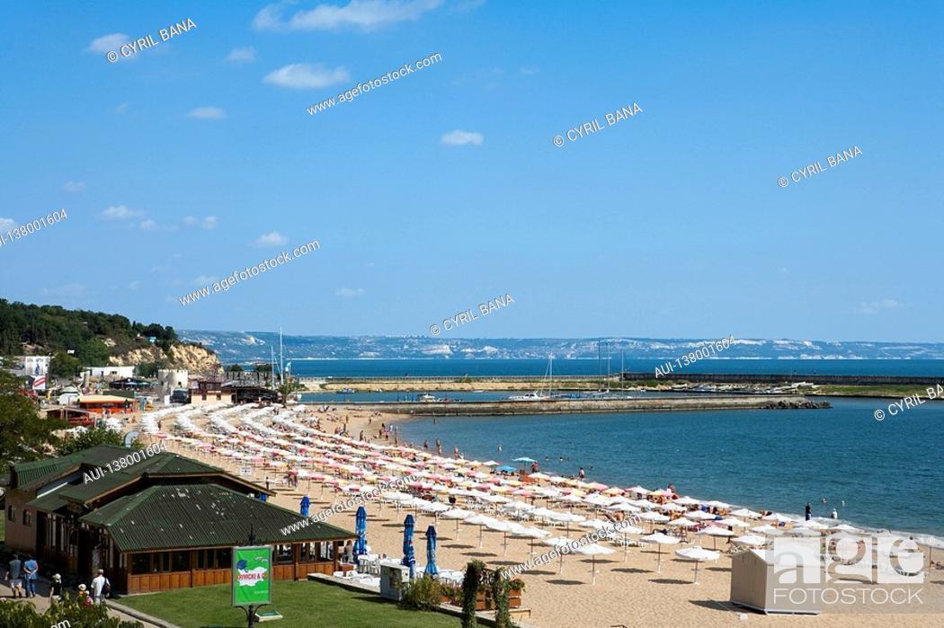 Stock Photo: Bulgaria - Coast - Northern Black Sea - Golden Sand Slatni Piassatsi.