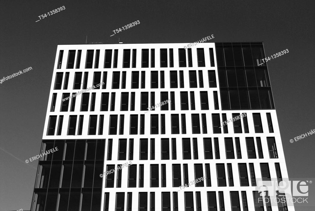 Stock Photo: Windows of a modern office complex in Munich.