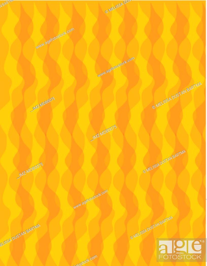 Stock Photo: An orange wavy geometric pattern illustration.