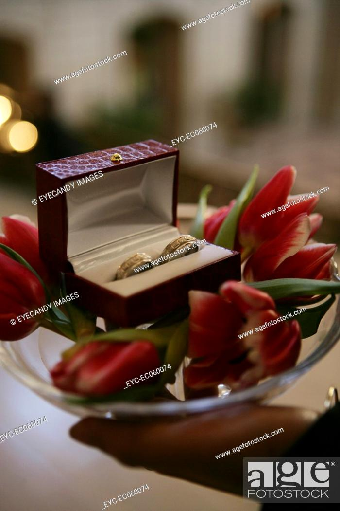 Stock Photo: Wedding rings.